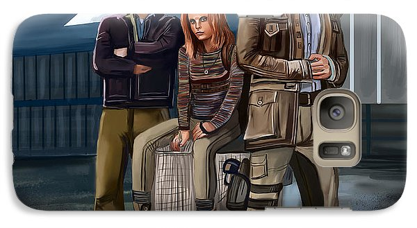 Galaxy Case featuring the digital art Study by Bogdan Floridana Oana