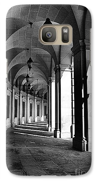 Galaxy Case featuring the photograph Study In Black And White by John S
