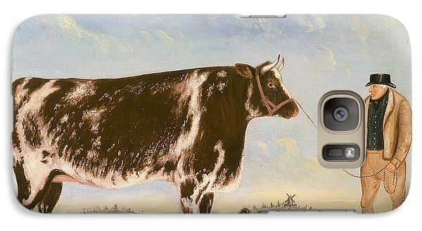 Study Of A Shorthorn Galaxy S7 Case