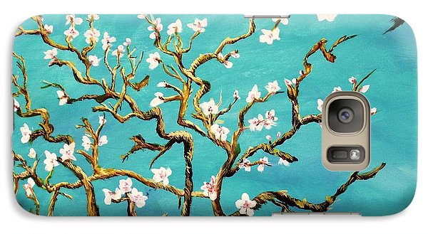 Galaxy Case featuring the painting Study Of Almond Branches By Van Gogh by Donna Dixon