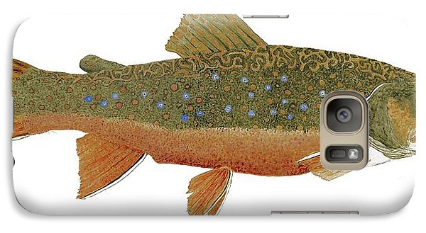 Galaxy Case featuring the painting Study Of An Wild Eastern Brook Trout  by Thom Glace