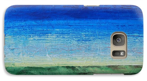 Galaxy Case featuring the painting Study Of Earth And Sky by Linda Bailey