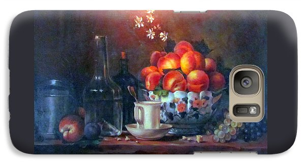 Galaxy Case featuring the painting Study Of Peaches by Donna Tucker