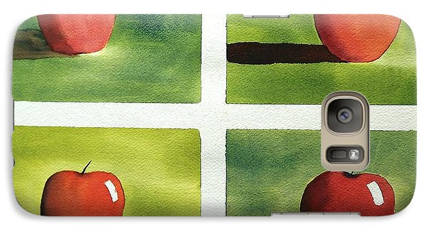 Galaxy Case featuring the painting Study Red And Green by Richard Faulkner