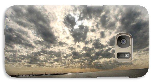 Galaxy Case featuring the photograph Stunning Coastal Sunrise by Linda Cox