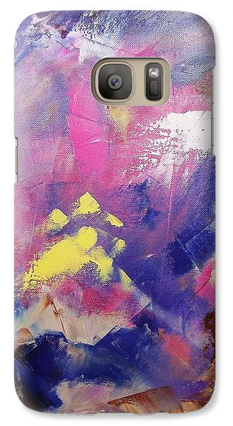 Galaxy Case featuring the painting Subconsciously by Nina Mitkova