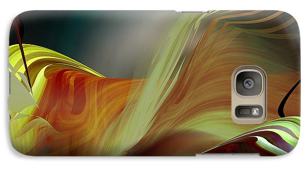 Galaxy Case featuring the digital art Subduction Zone by rd Erickson