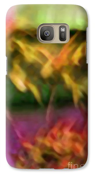 Galaxy Case featuring the mixed media Substance by Gayle Price Thomas