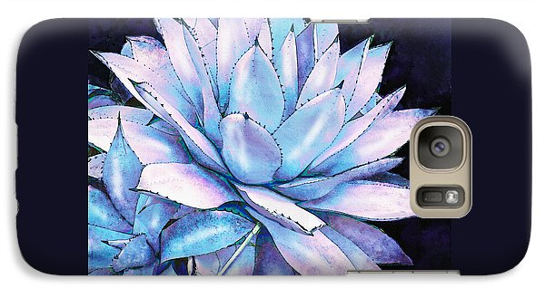 Galaxy Case featuring the digital art Succulent In Blue And Purple by Jane Schnetlage