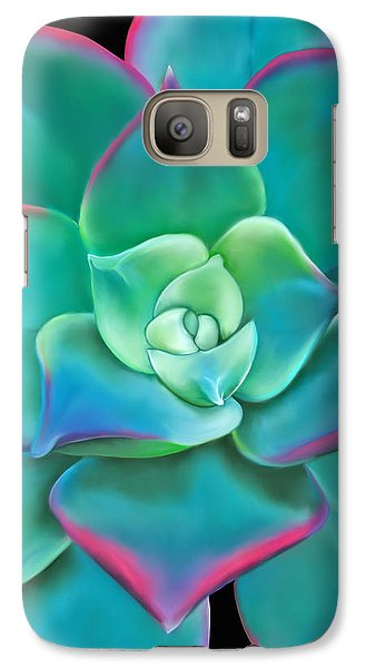 Galaxy Case featuring the painting Succulent Aeonium Kiwi by Laura Bell