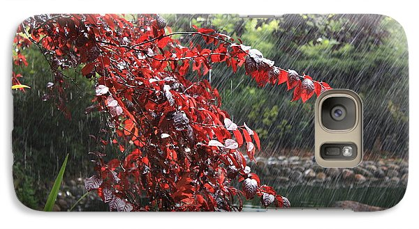 Galaxy Case featuring the photograph Sudden Shower by Susan Alvaro