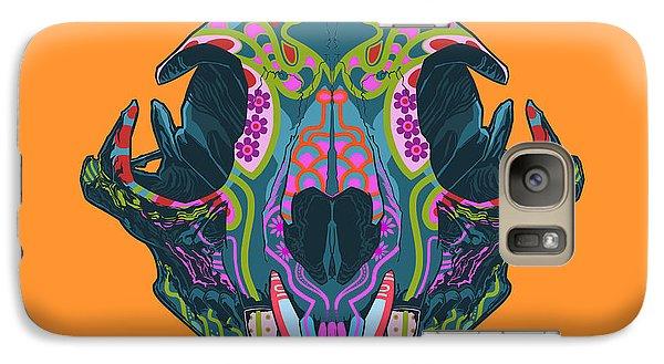 Folk Art Galaxy S7 Case - Sugar Lynx  by Nelson dedos Garcia