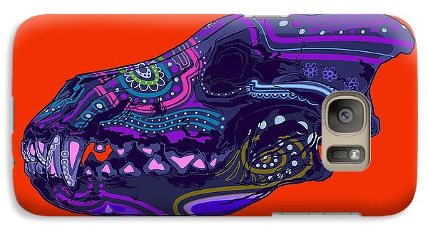 Galaxy Case featuring the drawing Sugar Wolf by Nelson Dedos Garcia