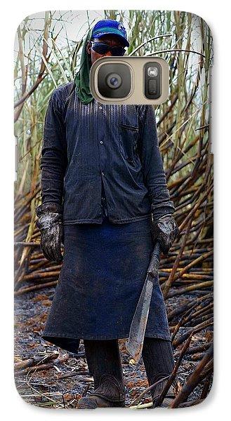 Galaxy Case featuring the photograph Sugarcane Slash by Henry Kowalski