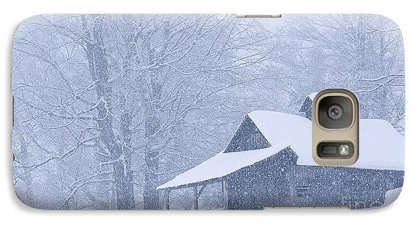Galaxy Case featuring the photograph Sugarhouse Snowfall by Alan L Graham