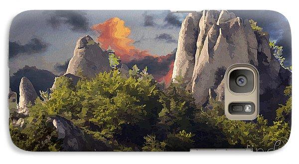 Galaxy Case featuring the digital art Sulov Mountains by Leo Symon