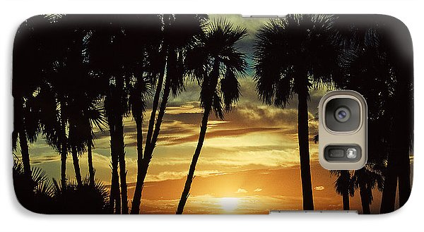 Galaxy Case featuring the photograph Sultry Sunset by Janie Johnson