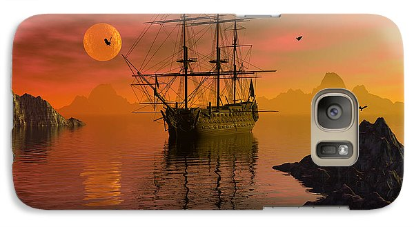 Galaxy Case featuring the digital art Summer Anchorage by Claude McCoy