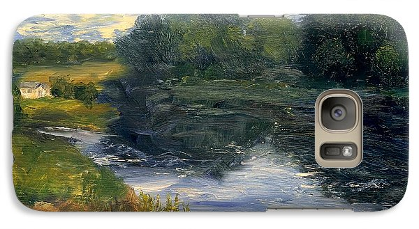 Galaxy Case featuring the painting Summer At Jackson Lake by Gail Kirtz