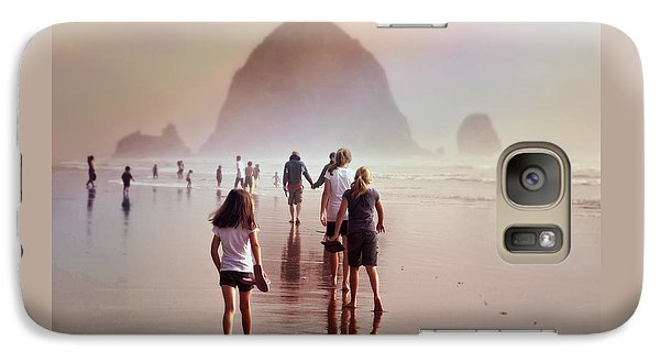 Galaxy Case featuring the photograph Summer At The Seashore  by Micki Findlay