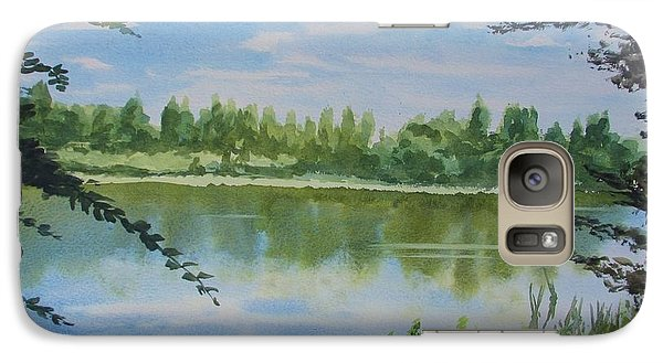 Galaxy Case featuring the painting Summer By The River by Martin Howard