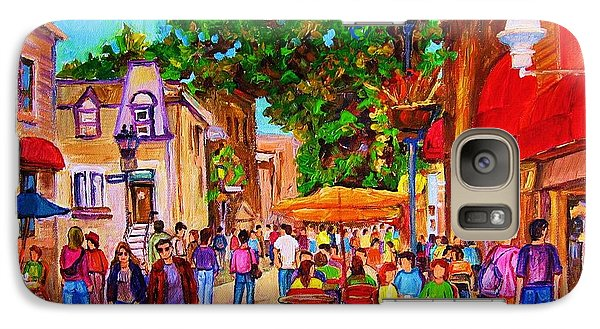 Galaxy Case featuring the painting Summer Cafes by Carole Spandau