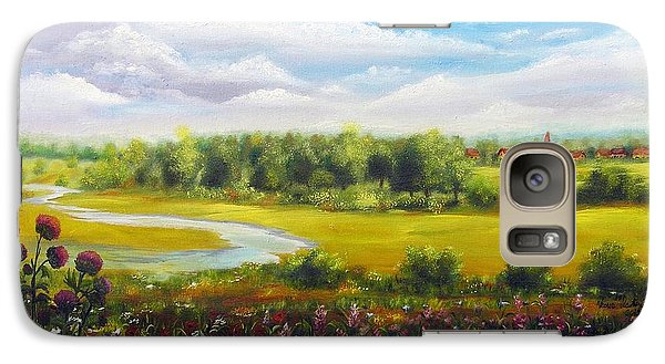 Galaxy Case featuring the painting Summer Day by Vesna Martinjak