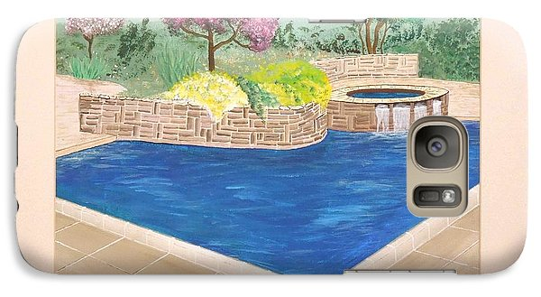 Galaxy Case featuring the painting Summer Days by Ron Davidson