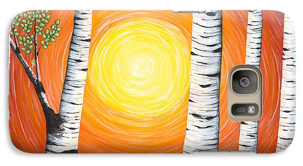 Galaxy Case featuring the painting Summer Faces by Rebecca Parker