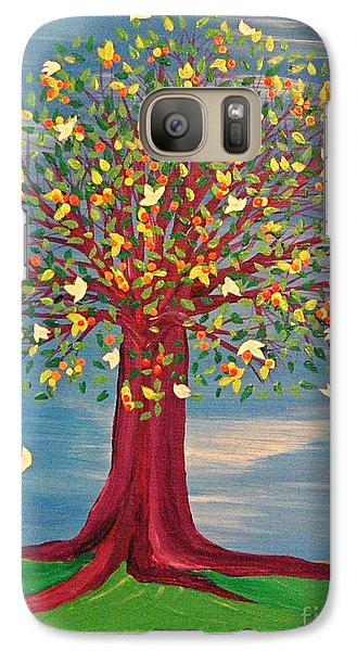 Galaxy Case featuring the painting Summer Fantasy Tree by First Star Art