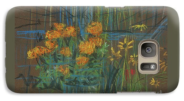 Galaxy Case featuring the painting Summer Flowers by Donald Maier