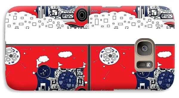 Galaxy Case featuring the digital art Summer Fun by Ann Calvo