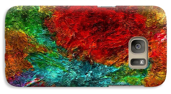 Galaxy Case featuring the painting Summer Garden by Carolyn Repka