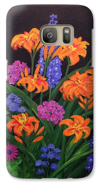 Galaxy Case featuring the painting Summer Garden by Janet Greer Sammons