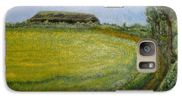 Galaxy Case featuring the painting Summer In Canola Field by Felicia Tica