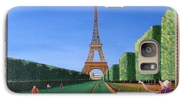 Galaxy Case featuring the painting Summer In Paris by Ron Davidson