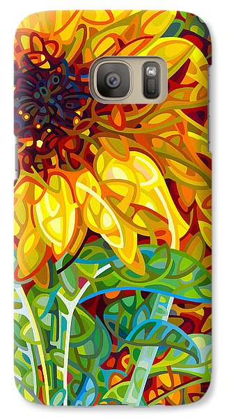 Sunflower Galaxy S7 Case - Summer In The Garden by Mandy Budan