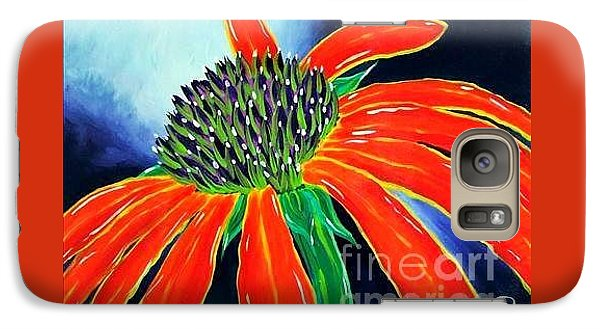 Galaxy Case featuring the painting Summer Kissed Cone Flower by Jackie Carpenter