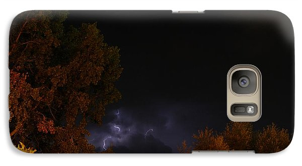 Galaxy Case featuring the photograph Summer Lightning Storm by Ramona Whiteaker