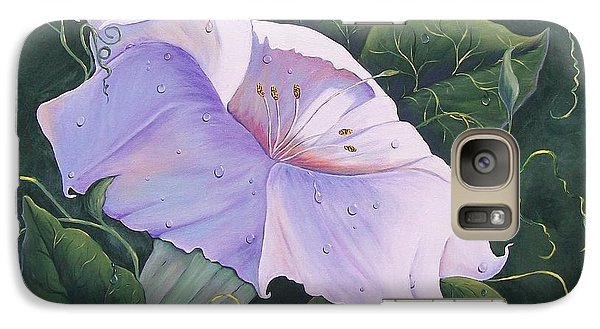 Galaxy Case featuring the painting Morning Glory  by Sharon Duguay