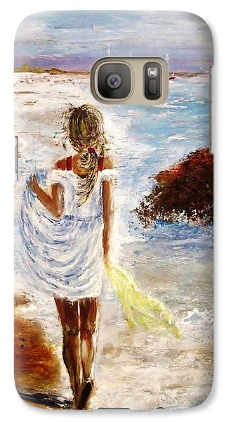 Galaxy Case featuring the painting Summer Memories by Cristina Mihailescu