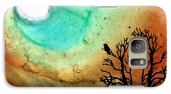 Summer Moon - Landscape Art By Sharon Cummings Galaxy Case by Sharon Cummings