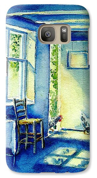 Galaxy Case featuring the painting Summer Morning Visitors  by Trudi Doyle