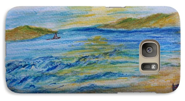 Galaxy Case featuring the painting Summer/ North Wales  by Teresa White