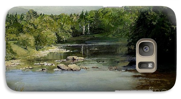Galaxy Case featuring the painting Summer On The River In Vermont by Laurie Rohner