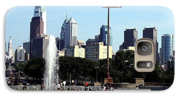 Galaxy Case featuring the photograph Summer Philly Skyline by Christopher Woods