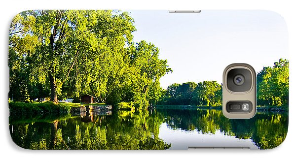 Galaxy Case featuring the photograph Summer Reflections by Sara Frank