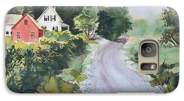Galaxy Case featuring the painting Summer Road by Joy Nichols