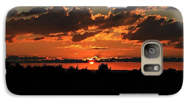 Galaxy Case featuring the photograph Summer Silhouette Sunset by Candice Trimble