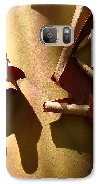 Galaxy Case featuring the photograph Summer Sun On Arbutus by Cheryl Hoyle